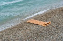Empty Black Sea beach in Crimea Stock Images