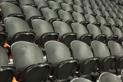 The empty black seats Stock Image