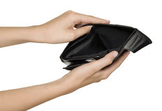 Empty black wallet Stock Photography