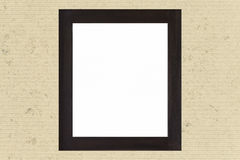 Empty black wood picture frame Royalty Free Stock Photography