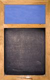 Empty blackboard. With blue area and chalk Stock Images