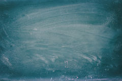 Empty blackboard with chalk rubbed texture. Royalty Free Stock Image