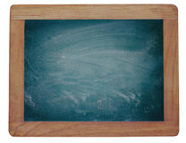 Empty blackboard with chalk rubbed texture Stock Photos