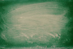 Empty blackboard with chalk rubbed texture. Royalty Free Stock Photo