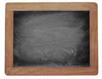 Empty blackboard with chalk rubbed texture Royalty Free Stock Images