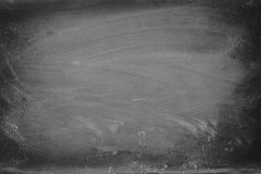 Empty blackboard with chalk rubbed texture. Stock Photos