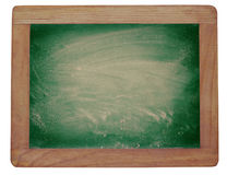 Empty blackboard with chalk rubbed texture Royalty Free Stock Photo