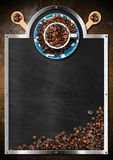 Empty Blackboard for a Coffee House Royalty Free Stock Image