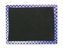 Empty blackboard with color frame Royalty Free Stock Photography