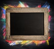 Empty blackboard Royalty Free Stock Image