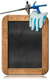 Empty Blackboard for Fencing Sport Stock Photography