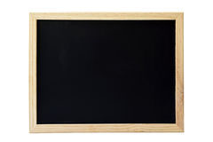 Empty blackboard isolated on white Royalty Free Stock Photo