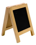 Empty blackboard menu stand Stock Images