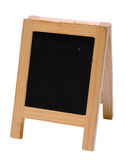 Empty blackboard menu stand Stock Photography