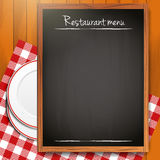 Empty blackboard - Restaurant menu background Stock Photography