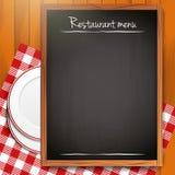 Empty blackboard - Restaurant menu background Stock Photography