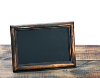 Empty blackboard with wooden frame Royalty Free Stock Image