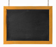Empty blackboard with wooden frame and chain Stock Photography