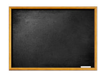 Empty blackboard with wooden frame and chalk Royalty Free Stock Photography