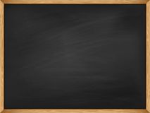 Empty blackboard with wooden frame. Template Royalty Free Stock Photo