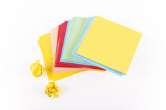 Empty Blank Adhesive Note Paper Stock Image
