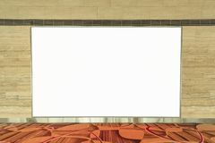 Empty blank advertising billboard on wall for your text message Royalty Free Stock Images