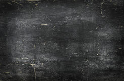 Empty blank black chalkboard with chalk traces Royalty Free Stock Images
