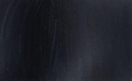 Empty blank black chalkboard with chalk traces Royalty Free Stock Image
