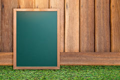 Empty blank black chalkboard with chalk traces Stock Photo