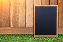 Empty blank black chalkboard with chalk traces Stock Image