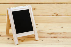 Empty blank black chalkboard. Stock Photos