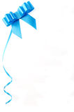Empty blank with blue ribbon and place for text. Stock Image