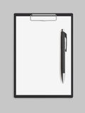 Empty blank clipboard with pen Stock Images