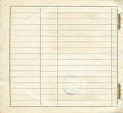 Empty blank form Stock Photography