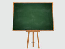 Empty blank green chalkboard Stock Photo