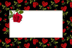 Empty blank for greeting card with a red heart. Rose petals Valentine's Day stock photos