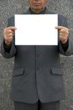 Empty blank in hands Stock Photos