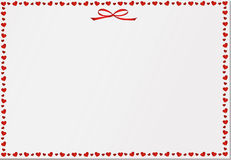 Empty blank with hearts. Card festive. Valentine`s Day. Vector Royalty Free Stock Photos