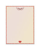 Empty blank with hearts and wings. Card festive. Valentine`s Day. Vector illustration Royalty Free Stock Image