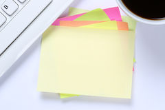 Empty blank note paper notepaper notes copyspace copy space info Stock Photography