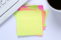 Empty blank note paper notepaper notes copyspace copy space info Royalty Free Stock Photography