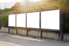 Empty / blank outdoor advertising billboards. By Bosphorus in Istanbul royalty free stock photo