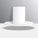 Empty blank oval hovering on the podium Royalty Free Stock Photos