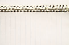 Empty blank ring, spiral notepad,can be used as background Stock Image