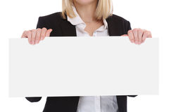 Empty blank sign business people concept with copyspace copy spa Stock Photos