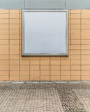 Empty blank square white advertising billboard Royalty Free Stock Photography