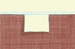 Empty blank tag for loomwork clothing Royalty Free Stock Images