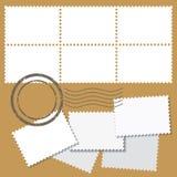 Empty blank white postage mark set Stock Images