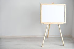 Empty blank whiteboard in the light room. Empty blank whiteboard in the room Stock Images