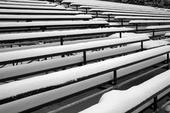 Empty Bleachers. Photo of bleachers in front of the White House in Washington D.C. rendered in black and white. This photo was taken 2 days after the 2005 Jan Royalty Free Stock Image